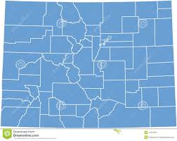 Colorado State Map by Colorado State Map By Counties Stock Image Image 11001631