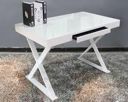 White Modern Desk Cool White Modern Desk Metal Glass Office Home Decoractive White