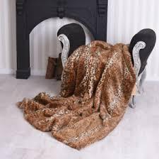 couverture canapé couverture de fourrure leo plaid toison fausse couvre lit canapé