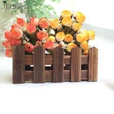 online shop 15 heads burgundy rose artificial silk flowers for