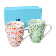 Design Mugs by Set Of Two Floral Design Mugs By Bell U0026 Blue Notonthehighstreet Com