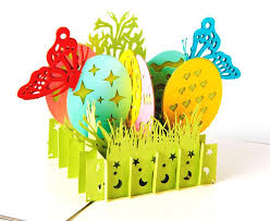 painted cards for sale 3d greeting card vintage handmade creative kirigami origami easter