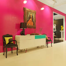 pink foyer interior design ideas