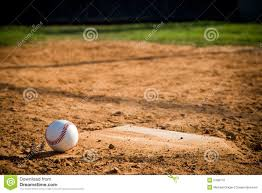 Home Plate by Baseball Homeplate With Baseball On It Stock Photo Image 5496710