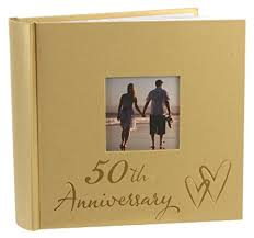 anniversary photo album 50th wedding anniversary photo album with