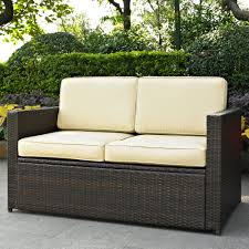 Artificial Wicker Patio Furniture by Outdoor Wicker Bench Treenovation