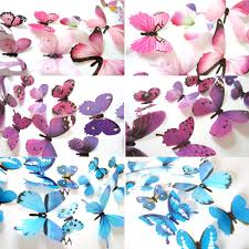 online shop 12pcs multicolor butterflies wall stickers decals home