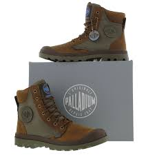 s palladium boots canada palladium mens pa sport cuff waterproof boots brown green