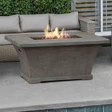 rectangle propane fire pit table rectangular fire pit real flame monaco rectangle propane fire pit