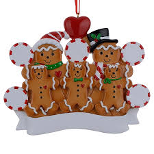 maxora gingerbread family of 5 resin painting