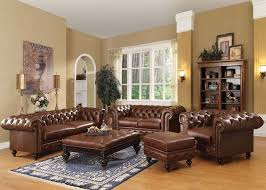 Brown Bonded Leather Sofa Acme 51315 Shantoria Dark Brown Bonded Leather Sofa Set