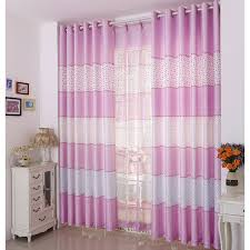 Curtain For Girls Room Designed Pink Striped Curtains For Girls U0027 Room
