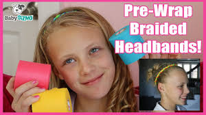 pre wrap headband how to make pre wrap braid and twirly dirly hair headbands