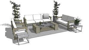 modern outdoor patio furniture 3d warehouse