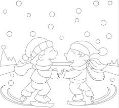 ice skating coloring pages download print free