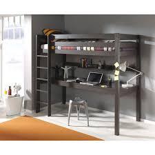 lit superpose bureau lit enfant superposé bureau pino taupe