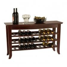 console table wine rack foter