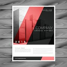 red and black modern brochure template vector free download