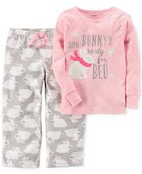 s 2 pc bunny s ready for bed pajama set toddler 2t