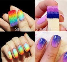 8pcs bag colors fade manicure gradient nail sponge tools lady nail