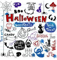 Halloween Desktop Wallpaper Cute Monster And Ghost By Sl Designs by Halloween Doodle Set Vector By Azzzya On Vectorstock Halloween