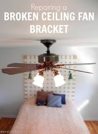 ceiling fan mounting bracket replacement replacing a broken ceiling fan bracket mad in crafts