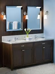 appealing art deco bathroom design with shiny black tile floor and