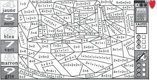 Mdi 2005 Coloriage Magique Cm2 Maths Coloriage Magique Mathematiques