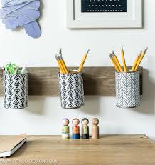 Pencil Holders For Desks by How To Make A Pencil Holder From Empty Tin Cans U2022 Grillo Designs