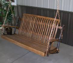 rustic porch swing hickory and oak 4 coral coast torched log