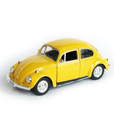 volkswagen yellow model car toy 1 32 scale yellow vw beetle 1967 vintage diecast