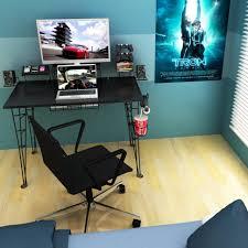 Large Black Computer Desk Desk Small Office Computer Desk 6 Foot Computer Desk 3 Foot