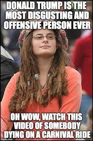 Most Disgusting Memes - college liberal meme imgflip