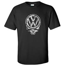 volkswagen logo black vdubster graphic tees iconic vw deadhead black shirt