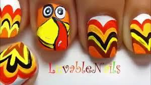turkey nails thanksgiving nail art easy nail designs for