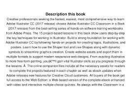 Seeking Book Pdf Adobe Illustrator Cc Classroom In A Book 2017 Release P