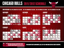 printable bulls schedule bulls 2011 2012 schedule features 48 nationally televised games