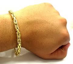 mens byzantine necklace gold images 10k yellow gold byzantine bracelet 9 5 inch 5 9mm jpg