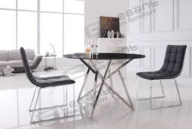 metal and glass dining room sets coaster shelby 103741 103742