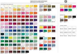 vallejo paint chart 50 vallejo game color acrylic paints choose
