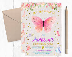 butterfly invitations butterfly invitation etsy