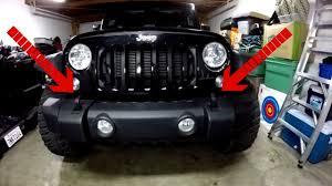 jeep bumper grill how to remove a jeep jk bumper youtube