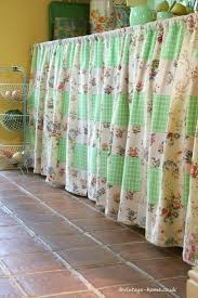 english country cottage the utility room with patchwork curtains