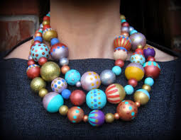 large beads necklace images Cassie stephens diy a painted bead necklace jpg