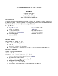 internship resume exles exles of student resumes for internship menu and resume