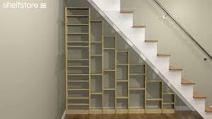 captivating building shelves under stairs pics design inspiration