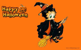 awesome halloween backgrounds betty boop happy halloween wallpaper background theme desktop