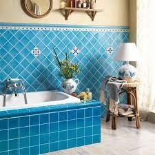 Colorful Bathroom Tile Best 25 Blue Modern Bathrooms Ideas On Pinterest Blue Bathroom