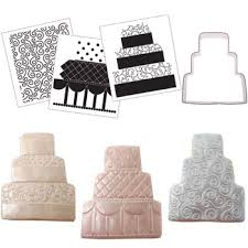 Wedding Cake Cookies Traditional Wedding Cake Cookie Cutter Texture Set 53 1002