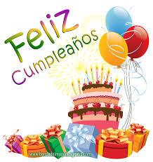 imagenes de pasteles que digan feliz cumpleaños postal gratis de feliz cumpleaños con pastel y globos de colores